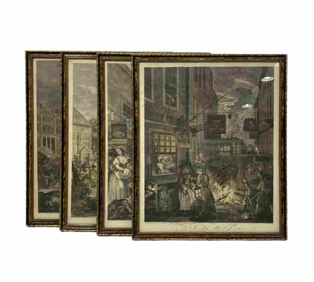 Four Pcs William Hogarth (1697-1764) Etchings