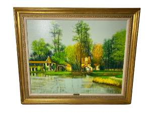 Signed Jacques Eitel (French b. 1926) Oil Painting on