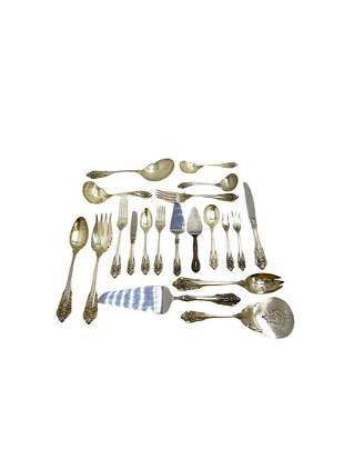 Wallace Grand Baroque Sterling Silver Flatware Set of