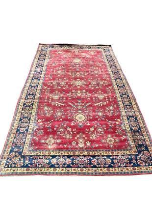 Antique Persian Kashan Oriental Rug