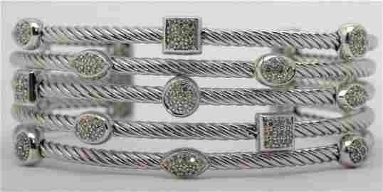 David Yurman 925 Sterling Silver and 1.25ct Diamond