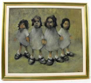 Signed Leonard Creo (American b. 1923) Oil Painting