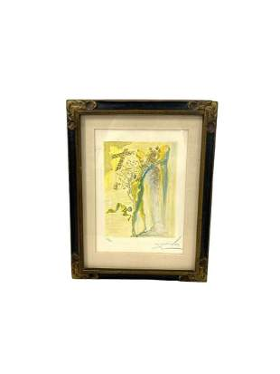 Signed Salvador Dali (Spanish, 1904-1989) Woodcut in