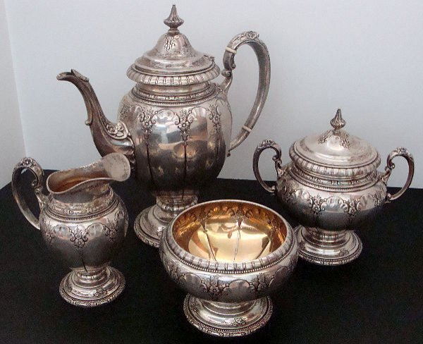 201: 4 PIECE TOWLE STERLING SILVER COFFEE SET