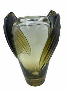 Lalique Art Deco Marrakech Amber Vase