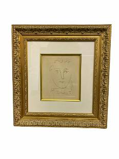 Signed Pablo Picasso (Spanish, 1881-1973) Etching Pour