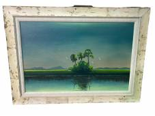 Al Black Florida Highwayman Oil Painting on Board Water