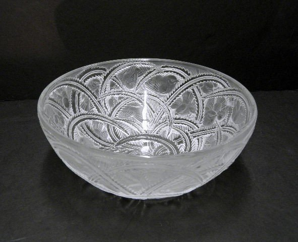 2: Signed Lalique Crystal Pinsons Bowl