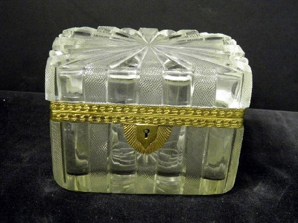 4: Gilt Metal Mounted Cut Glass Box