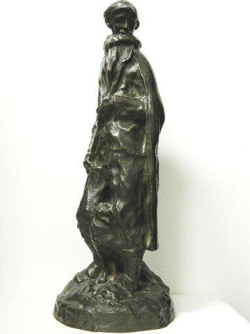 10: Ferdinand Schirren Signed Bronze Figure of A Man