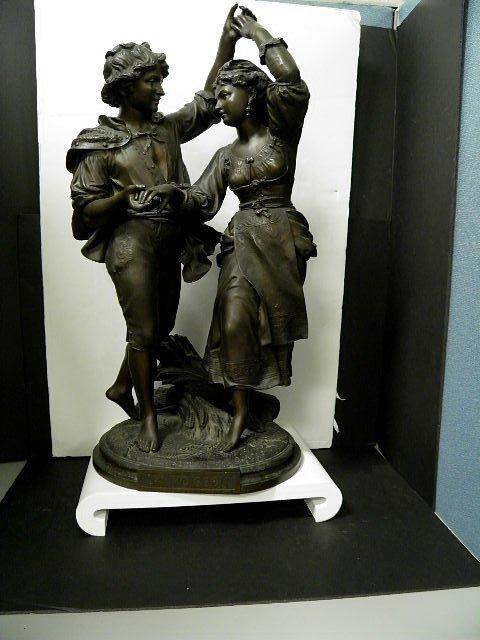 """78: Signed Debut Antique Figural Bronze L""""a Moison"""""""