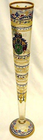213: Venetian Hand Painted & Enamel Vase