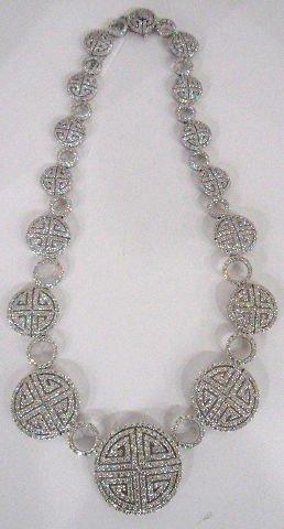 208: 18K WG 24.27Ct Diamond Maze Necklace