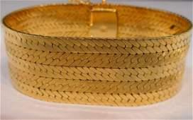 242: 18K YG Bracelet Signed Gubelin