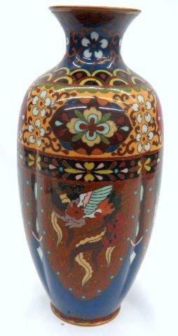 505: Japanese Sparking Cloisonne Vase
