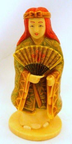 507: Chinese Polychrome Ivory Figure