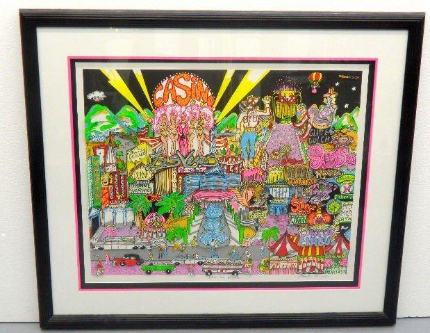 "519: Charles Fazzino 3D Serigraph ""Viva Las Vegas"""