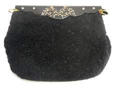 555 Black Beaded Evening Handbag