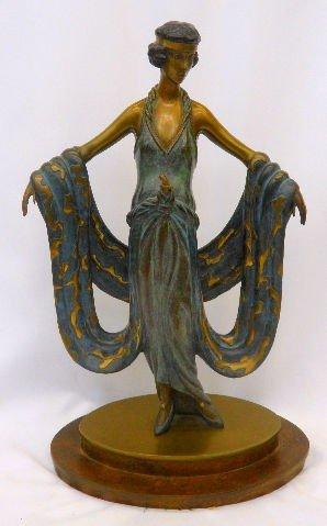 "514: Erte ""Gala"" Bronze Sculpture"