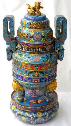 508: Antique Chinese Cloisonne Incense Burner