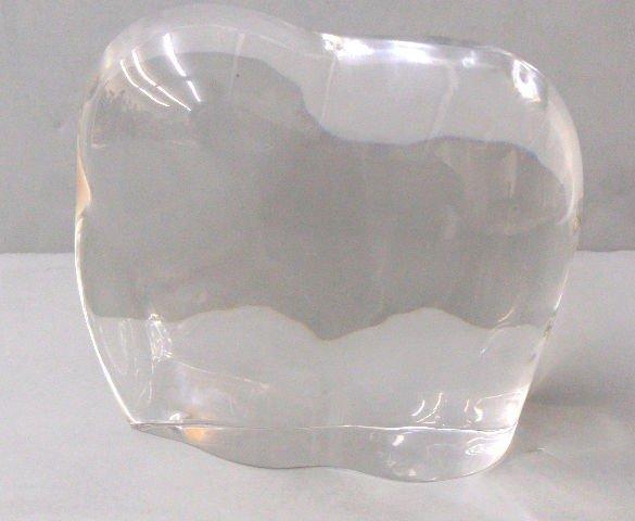 518: Vintage Baccarat Crystal Elephant Figurine