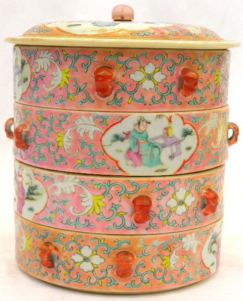 502: Fine Chinese Four-tiered Circular Porcelain Box