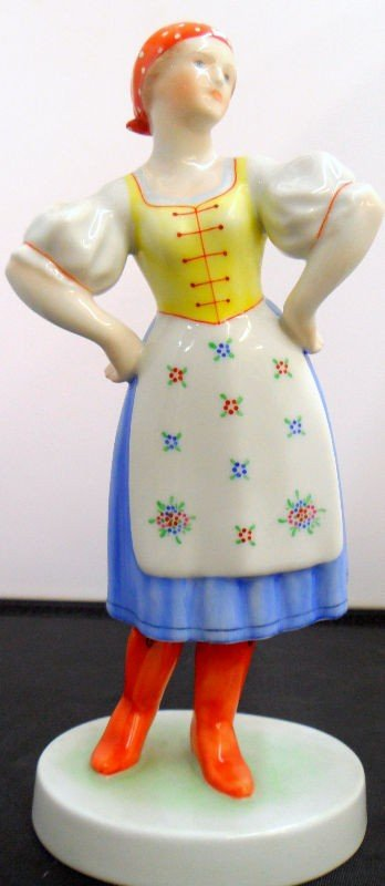 603: Unusual Herend Porcelain Lady