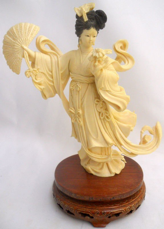749:Important 19th Century Chinese Ivory Quan Yin
