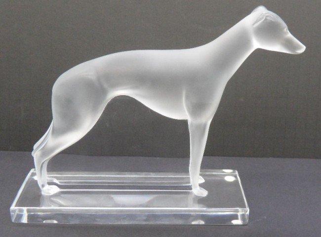"11: Lalique France Crystal ""Perceval"" Greyhound"