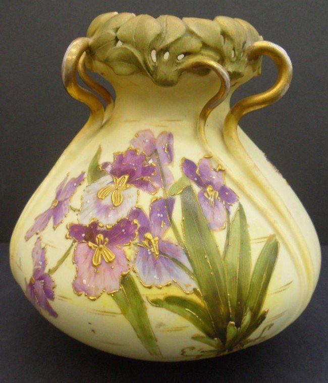 13: Teplitz Hand Painted Porcelain Vase