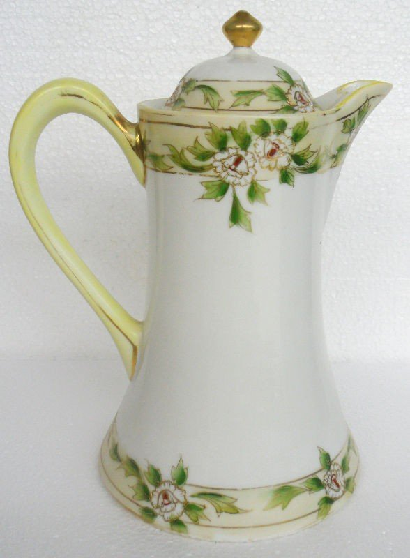 16: Nippon Hand Painted Porcelain Coffee Pot