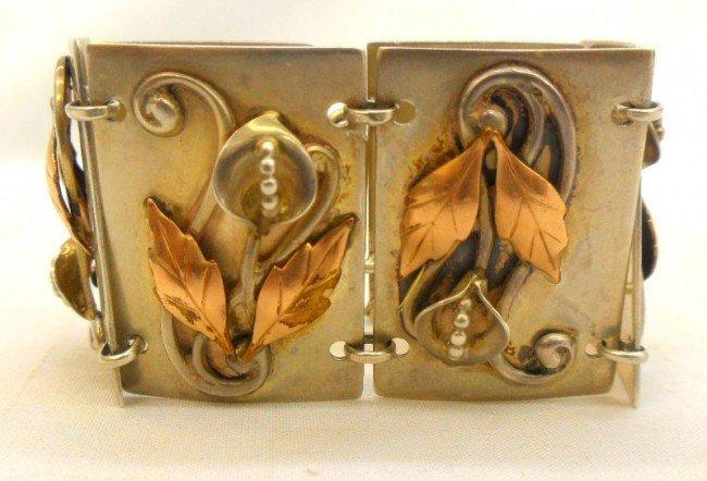 9B: Sterling Silver Floral Bracelet
