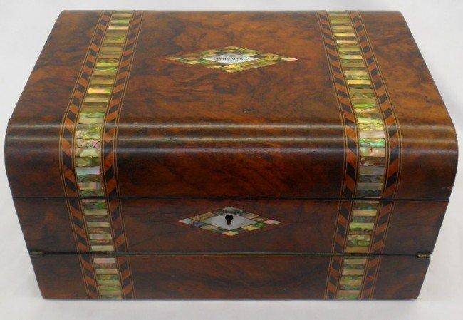 301: Antique Mahogany Traveling Lap Desk