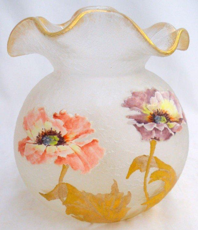303: Mont Joy Art Glass Vase