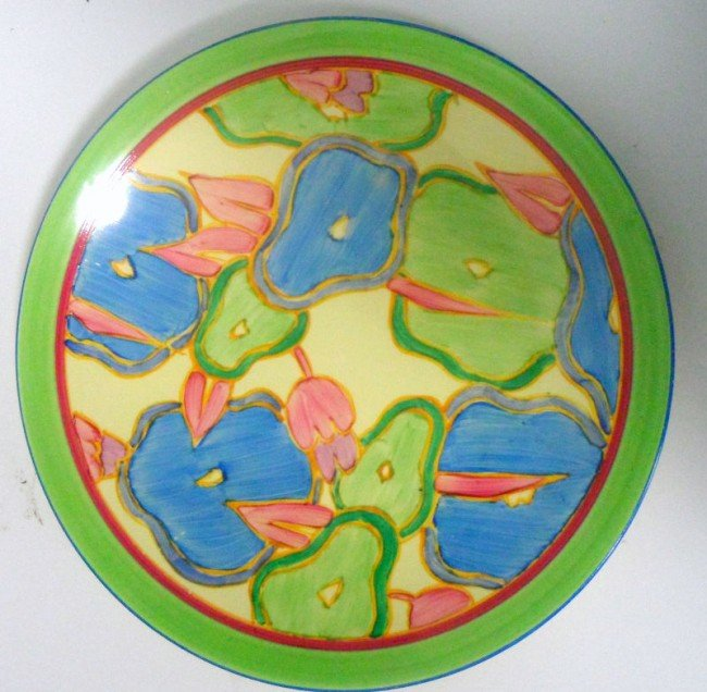 "320: Clarice Cliff ""Blue Chintz"" Plate"
