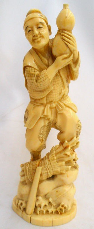 305: Important Chinese Carved Ivory Sculpture of a Man