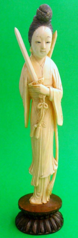 311: Chinese Ivory Figure of Woman Warrior