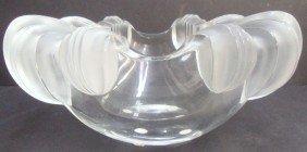 Lalique Crystal Scallop Bowl