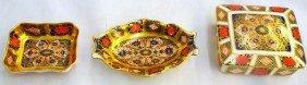 """(3) Royal Crown Derby """"Old Imari"""" Pieces"""