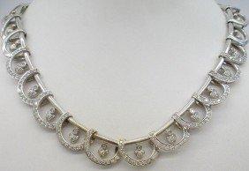 18K W.G. 5.00Ct Diamond Extension Necklace