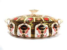 508: Royal Crown Derby Old Imari Covered Bowl