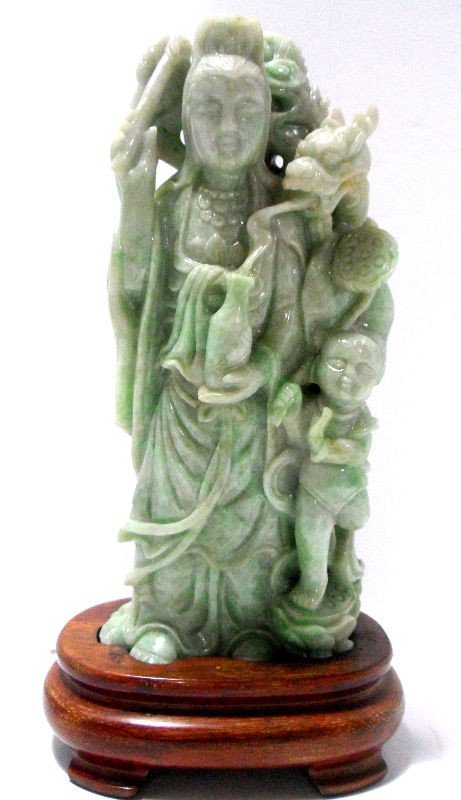 403: Chinese Carved Jade Figural Group