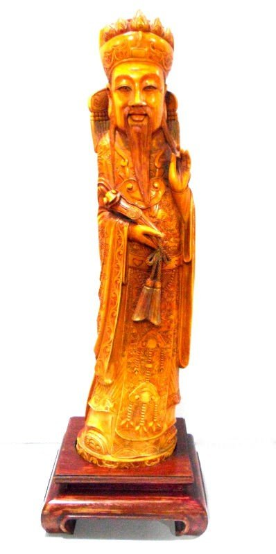 418: Chinese Carved Ivory Emperor Figure