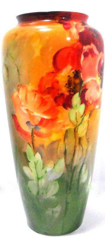 404: Belleek Hand-painted Floral Vase