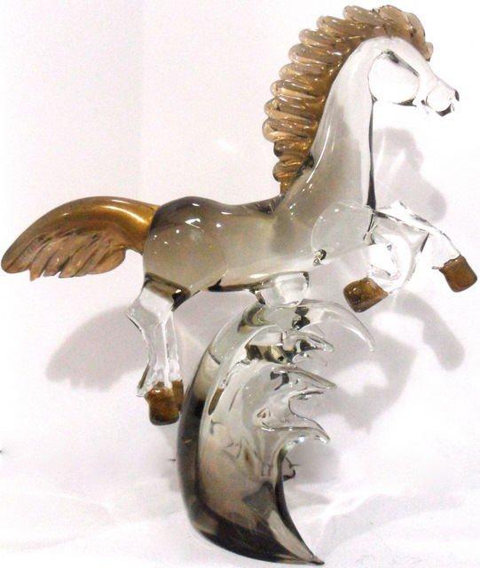108: Murano Art Glass Horse Sculpture