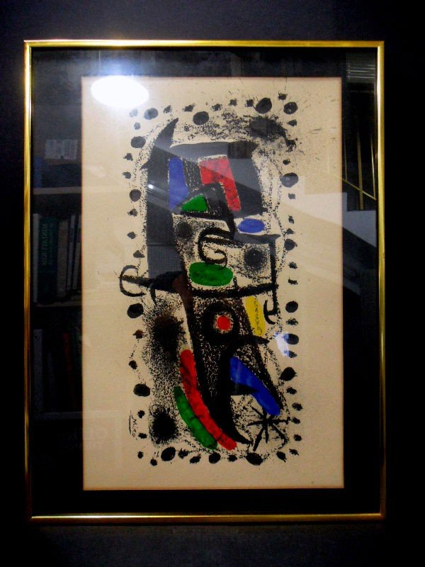 """306: Joan Miro Lithograph """"Star Scene"""""""