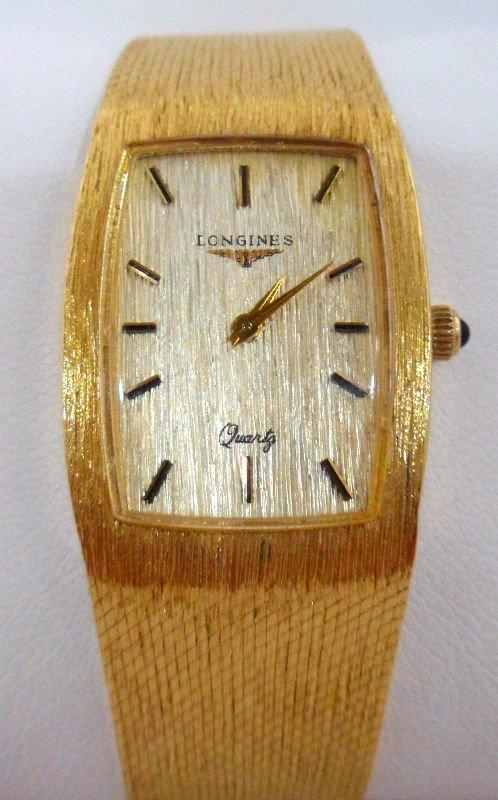 115A: 14K Yellow Gold Longines Watch