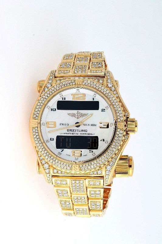 165B: Extremely Rare Breitling Emergency 18K Y.G. Watch