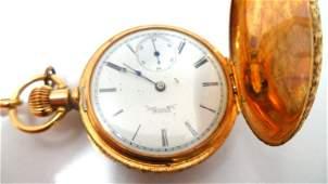 259A: Antique Elgin Tri-Gold Pocket Watch