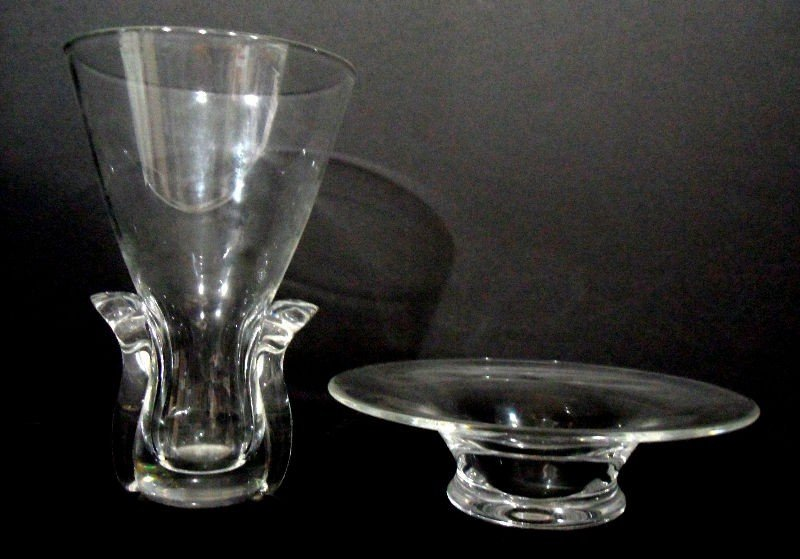 407: Steuben Glass Vase and Compote